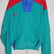 Columbia 90's Vintage Hipster Fleece Men's M Radial Polyester Green Blue Red Photo