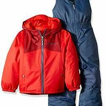 Columbia Baby Boys Outerwear Dark Blue Red Size 2t Double Flake Set 159 021 Photo