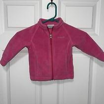 Columbia Baby Girl 12-18 Months Pink Fleece Zip Up Jacket  Photo