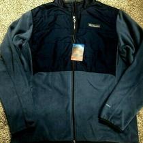Columbia Basin Butte Fleece Full Zip Jacket Men's L/g 110 Blue Omni-Heat Nwt Photo