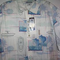 Columbia Big Game Fishing Sailfish Fish Reel Fish Boats Hawaiian Aloha Xxl Shirt Photo