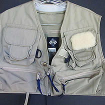 Columbia Bighorn Fishing Vest Medium Nwot Khaki  Photo