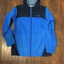 Columbia Black/blue Kids Wind Rain Shell Jacket Size Youth M Guc Free Shipping Photo