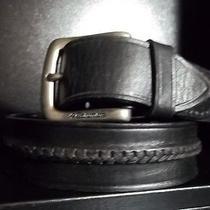 Columbia Black Leather Belt Photo