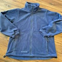 Columbia Blue Fleece Women's Full Zip Jacket Medium Photo