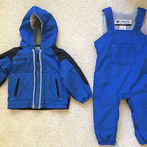 Columbia Boys 2t Blue Snowsuit.  Zip Access for Diapering/potty Training Photo