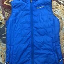 Columbia Boys' Blue Insulated Omni-Heat Zipper Vest Large Photo