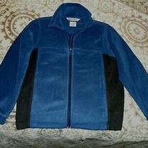 Columbia Boys Full-Zip Warm Fleece Jacket Navy Blue Size  10/12 Photo