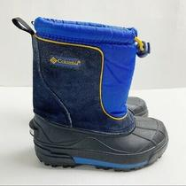 Columbia Boys' Youth Blue Winter Insulated Rubber Bottom Winter Snow Boots 11 Photo