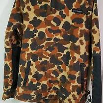 Columbia Brown Camouflage Fleece Hoodie Sz L Photo