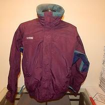 Columbia Bugaboo Windbreaker Jacket Size M Medium Purple Teal Radial Sleeve Photo