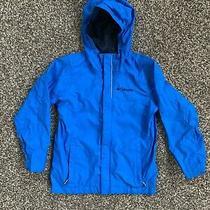 Columbia Child's Rain Jacket Size Xs Royal Blue Full Zip Hood Photo
