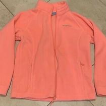 Columbia Child Youth Girls Pink Coat Jacket Size 14/16 Large L Zipper Photo