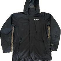 Columbia Coat Women's Interchange Jacket Ski Omni-Tech Size Small Black Euc Photo