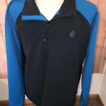 Columbia Convert Sweater Mens Sz Xxl Fleece Pullover Blue 1/4 Zip Photo