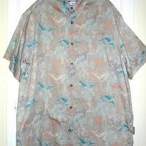 Columbia Cotton Fish in Martini Shirt Size Xxl Photo