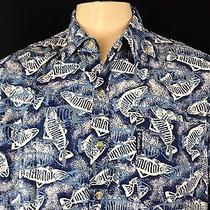 Columbia Fish Men's Short Sleeve Casual Shirt Size L  Photo