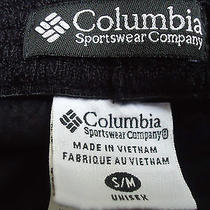 Columbia Fleece Hat Cap Unisex Size S/m Excellent Snow Weather Cap Hat Black Photo