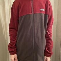 Columbia Fleece Jacket - Burgundy and Gray (Outerwear) Excellent Condition Photo