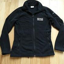 Columbia Fleece Jacket Size Small Becker College Logo Black Gently Used Photo