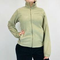 Columbia Fleece Jacket Women's Small Beige Full Zip Photo