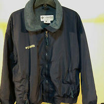 Columbia Fleece-Lined  Bomber Blue Jacket Black Women Sz Xl Ski Snow Coat Photo