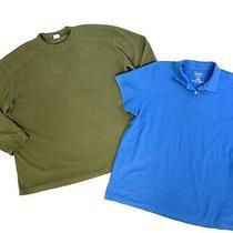 Columbia Fleece Mens Size Xxl Green Pullover Fleece & Ll Bean Polo Lot of 2 Photo