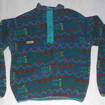 Columbia Fleece Pullover Radial Sleeve Geometric Print Womens Ladies - Size M Photo