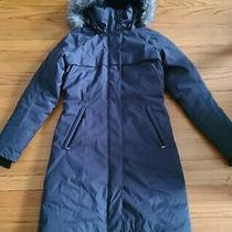 Columbia Flurry Run Down Long Omni Heat Jacket Coat Hooded Parka S Gray Photo