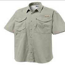 - Columbia Fm17388 Bonehead Ss Fossil Mens Fishing Shirt Size Sm Photo