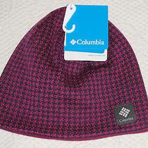 Columbia Fuchsia Pink & Plum Plaid Reversible Urbanization Beanie Hat Osz 25 Photo