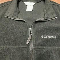 Columbia Full Zip Black Fleece Size Medium Sweater Jacket Pre-Owned Photo