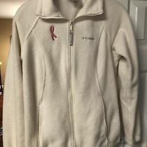 Columbia Full Zip White Fleece Jacket Size S Photo