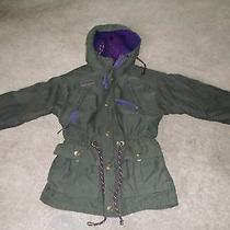 Columbia Girls Jacket Coat Winter Size S 5 6 With Hood Khaki Radial Sleeve Photo
