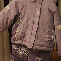 Columbia Girls Snow Coat and Snow Bibs - Size 2t- Purple Photo