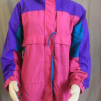 Columbia Gizzmo Misses Xl Light Weight Coat Jacket Radial Sleeve Pink Purple Photo