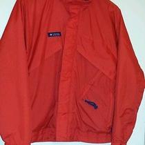 Columbia Gore-Tex Mens M Red Radial Sleeve Waterproof Fishing Windbreaker Jacket Photo