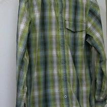 Columbia Green Long Slv Plaid Fishing Shirt S Small 14.5 X 33 Photo