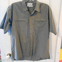 Columbia Green Plaid Short Sleeved Shirt - Large - Euc Photo