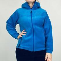 Columbia Hooded Fleece Jacket Women's Small Blue Full Zip Photo