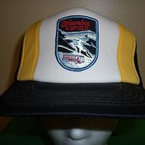 Columbia Icefield Retro Trucker Hat Baseball Cap Unique Rare Old School Photo