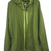 Columbia Interchange Men's Size Xxl Green Full Zip Hooded Windbreaker Jacket Photo