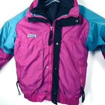 Columbia Interchange Powder Keg Winter Youth L Jacket Purple/teal Insulated(h12) Photo