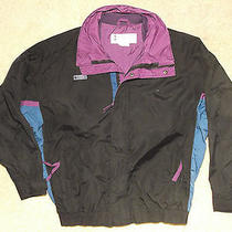 Columbia Jacket L Black Purple Blue Bugaboo Vintage Radial Sleeve Mens Lined Photo