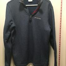 Columbia Jacket Pullover Mens Small Blue Vguc Silver Columbia Photo