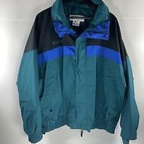 Columbia Jacket Sportswear Mens Size Xl Anorak Black Green Blue Vintage Photo