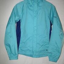 Columbia Kids Omni-Tech Waterproof Rain Jacket  Youth Girls 14/16 Blue Photo
