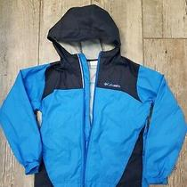 Columbia Kids/youth Size Small 8 Rain Jacket Rb3416  Blue & Black Shell Photo