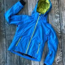 Columbia L 14/16 Boys Winter Jacket Coat Omni Tech Heat Waterproof Blue Hooded Photo