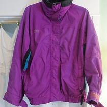 Columbia Ladies Windbreaker- High Collar - Radial Sleeve Jacket - Size Medium Photo